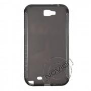 Kit Capa de TPU Premium + Película Pro Fosca para Samsung Galaxy Note II N7100 - Cor Grafite