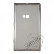 Kit Capa de TPU Premium + Película Transparente para Nokia Lumia 920 - Cor Grafite