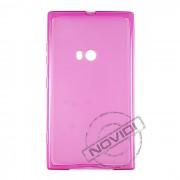 Kit Capa de TPU Premium + Película Transparente para Nokia Lumia 920 - Cor Rosa