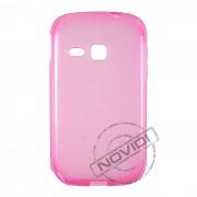 Kit Capa de TPU Premium + Película Transparente para Galaxy Young S6313 - Cor Rosa