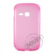 Kit Capa de TPU Premium + Película Pro Fosca para Samsung Galaxy Young - Cor Rosa