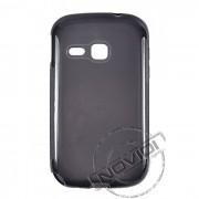 Kit Capa de TPU Premium + Película Pro Fosca para Samsung Galaxy Young - Cor Grafite