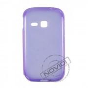 Kit Capa de TPU Premium + Película Pro Fosca para Samsung Galaxy Young - Cor Roxa
