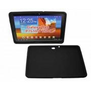 Capa de silicone Flexível  para Samsung Galaxy Tab 10.1 P7500 / P7510 - Cor Preta