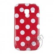 Capa Personalizada Bolinhas Retrô para Samsung Galaxy Ace 2 i8160 - Cor Vermelha / Branca