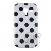 Capa Personalizada Bolinhas Retrô para Samsung Galaxy Ace 2 i8160 - Cor Branca / Preta