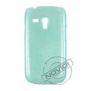 Capa Rígida com Efeito Escovado para Samsung Galaxy S III Mini I8190 - Cor Verde 1