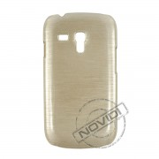Capa Rígida com Efeito Escovado para Samsung Galaxy S III Mini I8190 - Cor Marfim