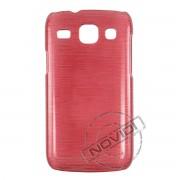 Capa Rígida com Efeito Escovado para Samsung Galaxy S3 Duos GT I8262 - Cor Vermelha