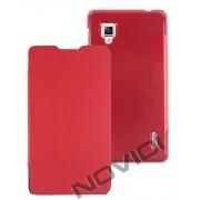 Capa Flip Cover para LG Optimus G E977 - Cor Vermelha