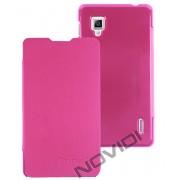 Capa Flip Cover para LG Optimus G E977 - Cor Rosa