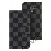 Capa Carteira Personalizada para Motorola Moto X - Cor Preta / Cinza