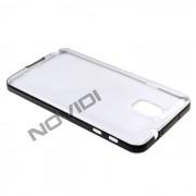 Capa em TPU Premium com Bordas para Galaxy Note 3 N9005 - Cor Transparente / Branca