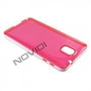 Capa em TPU Premium com Bordas para Galaxy Note 3 N9005 - Cor Vermelha / Branca
