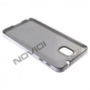 Capa em TPU Premium com Bordas para Galaxy Note 3 N9005 - Cor Grafite / Branca