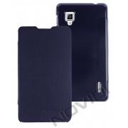 Capa Flip Cover para LG Optimus G E977 - Cor Azul Marinho