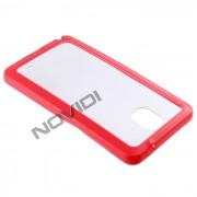 Capa em TPU Premium com Bordas Coloridas para Samsung Galaxy Note 3 - Cor Vermelha