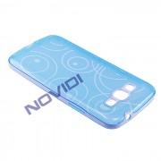 Capa em TPU Desenhada com Circulos para Samsung Galaxy Gan 2 Duos TV G7102 - Cor Azul / Branca
