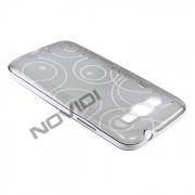 Capa em TPU Desenhada com Circulos para Samsung Galaxy Gan 2 Duos TV G7102 - Cor Grafite / Branca
