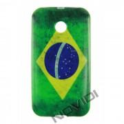Capa Personalizada Bandeira do Brasil para Motorola Moto E