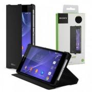 Capa Flip stand para Sony Xperia Z2 > Cor Preta > Original > Sony SCR10