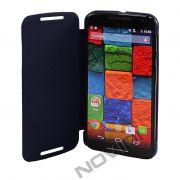 Capa Flip Cover para Motorola Moto X 2ª Geração - Cor Azul Marinho