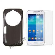 Kit Capa de TPU Premium + Película Transparente para Samsung Galaxy S5 Zoom C1158 - Cor Grafite