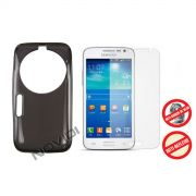 Kit Capa de TPU Premium + Película Pro Fosca para Samsung Galaxy S5 Zoom C1158 - Cor Grafite
