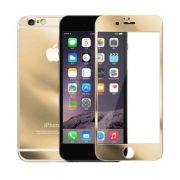 Kit 2 Películas de Vidro Temperado Frente e Verso com Bordas para Apple iPhone 6 (5.5) - Cor Dourada