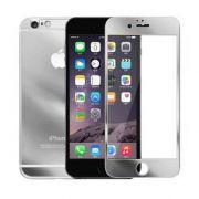 Kit 2 Películas de Vidro Temperado Frente e Verso com Bordas para Apple iPhone 6 (4.7) - Cor Prateada