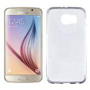 Capa de Silicone TPU Ultra Fino Slim para Samsung Galaxy S6 - Cor Transparente