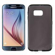 Kit Capa em TPU + Película Transparente para Samsung Galaxy S6 - Cor Grafite