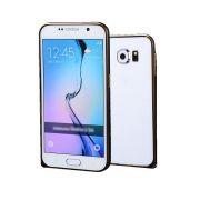Luxury Bumper em Alumínio para Samsung Galaxy S6 - Cor Preta
