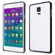 Luxury Bumper em Alumínio para Samsung Galaxy Note 4 - Cor Preto