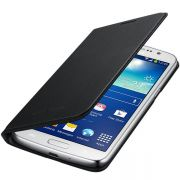 Capa Flip Wallet para Samsung Galaxy Grand 2 Duos - Cor Preta