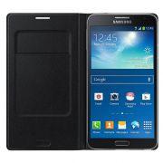Capa Flip Wallet para Samsung Galaxy Note 3 Neo - Cor Preta