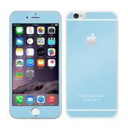 Kit com 2 Películas de Vidro Temperado Coloridas Frente e Verso para Apple iPhone 6 (4.7) - Cor Azul Claro