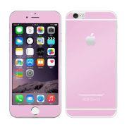 Kit com 2 Películas de Vidro Temperado Coloridas Frente e Verso para Apple iPhone 6 Plus (5.5) - Cor Rosa Claro