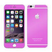 Kit com 2 Películas de Vidro Temperado Coloridas Frente e Verso para Apple iPhone 6 Plus (5.5) - Cor Rosa