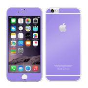 Kit com 2 Películas de Vidro Temperado Coloridas Frente e Verso para Apple iPhone 6 Plus (5.5) - Cor Roxa