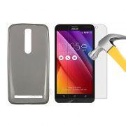 Kit Capa Ultra Slim + Película de Vidro Temperado para Asus Zenfone 2 ZE551ML (5.5) - Cor Grafite