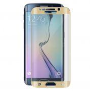 Película Protetora Transparente Curvada para Samsung Galaxy S6 Edge Plus - Bordas Douradas