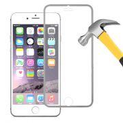 Película de Vidro Temperado com Bordas Prateadas para Apple iPhone 6 (4.7)