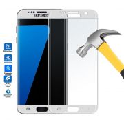 Película de Vidro Temperado Premium curvada com Borda para Samsung Galaxy S7 Edge - Cor Branca