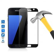 Película de Vidro Temperado Premium com Borda para Samsung Galaxy S7 - Cor Preta