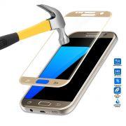 Película de Vidro Temperado Premium com Borda para Samsung Galaxy S7 - Cor Dourada