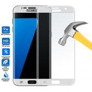Película de Vidro Temperado Premium com Borda para Samsung Galaxy S7 - Cor Branca