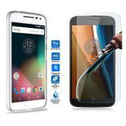 Kit Pelicula de Vidro + Capa de TPU para Motorola Moto G4 Play- Transparente