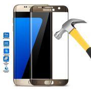 Película de Vidro Temperado Premium curvada com Borda para Samsung Galaxy S7 Edge - Cor Bronze