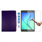 Kit Película de Vidro + Capa para Tablet para Samsung Galaxy Tab A SM-350 - Cor Roxa